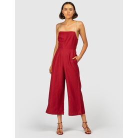 The Wolf Gang The Wolf Gang Alegrias Linen Jumpsuit