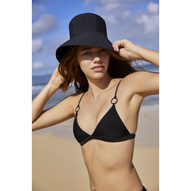 Mikoh Swimwear Mikoh Ponzu Top Matte Black Ring Detail Tri