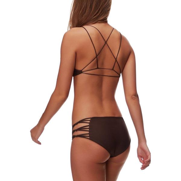 Mikoh Swimwear Mikoh Barcelona Fuller Coverage Skinny String Detail Bottom