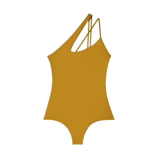 Mikoh Swimwear Mikoh Pahoa One Piece Swimsuit One Shoulder Cross