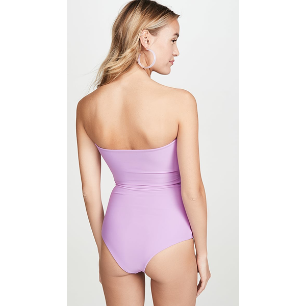 Mikoh Swimwear Mikoh Lana Strapless Knot One Piece Swimsuit