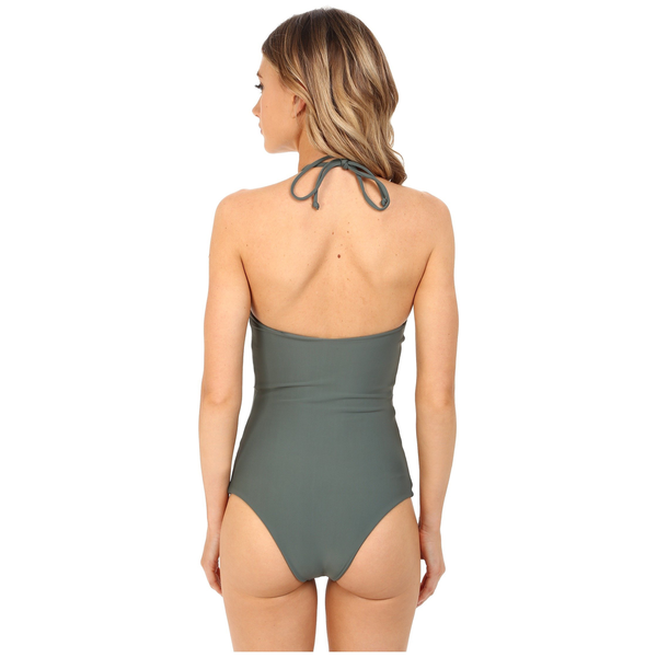 Mikoh Swimwear Mikoh Avalon Macrame Halter One Piece Swimsuit
