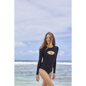 Mikoh Swimwear Mikoh Lunar Cutout Long Sleeve Bodysuit