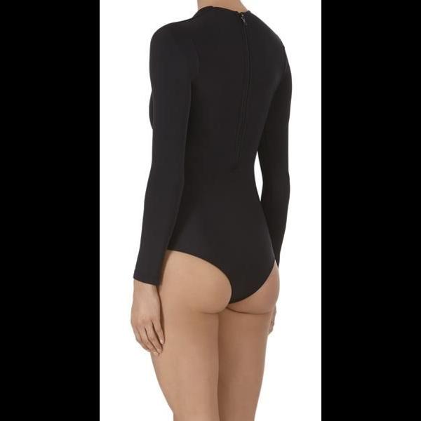 Mikoh Swimwear Mikoh Lunar Cutout Long Sleeve Bodysuit
