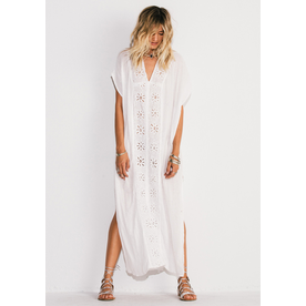 Jens Pirate Booty Jens Sunflower Captive Kaftan White O/S