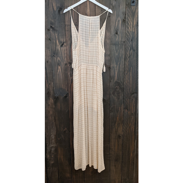 Maven West Maven Halter Maxi Dress w/ Tassel