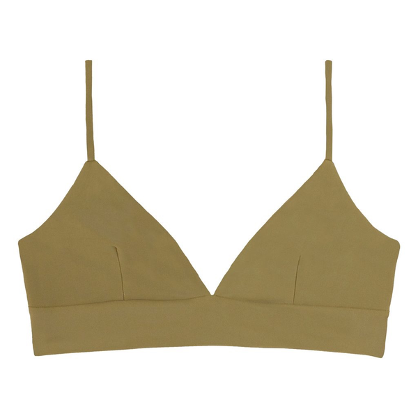 Mikoh Swimwear Mikoh Napoli Triangle Bralette Adjustable Strap Top