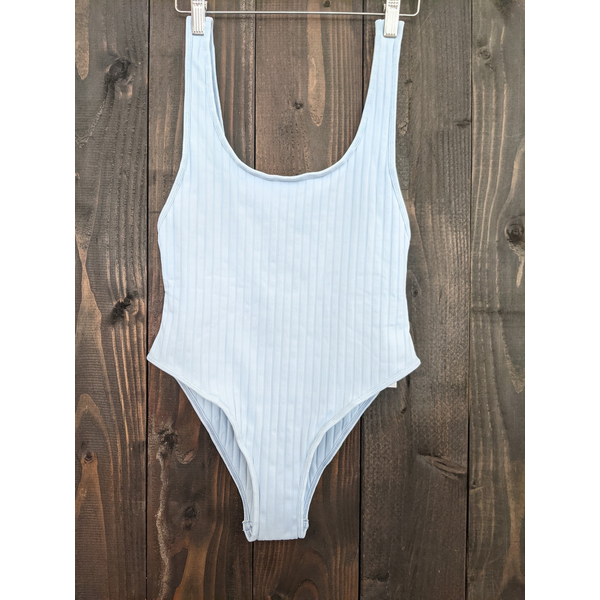 Mikoh Swimwear Mikoh Yumi Ribbed Simple Strap Extra High Long Leg One Piece