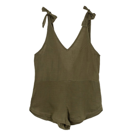 Mikoh Swimwear Mikoh Tarawa V Front Tie Shoulder Romper
