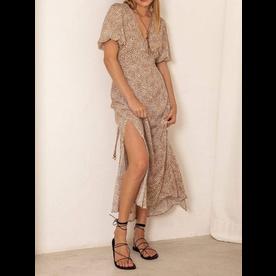 Kivari Kivari Anouk Spot Midi Slip Dress