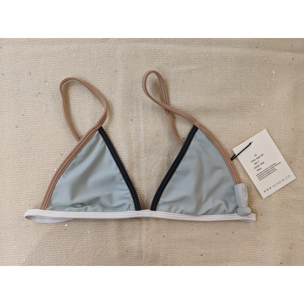 Acacia This bikini is adjustable both around the bottom and straps making it an easy fit with a classic triangle look