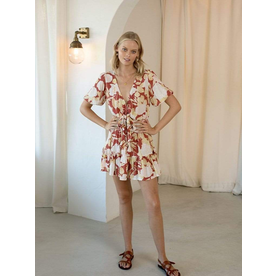 Kivari Kivari Zanthe Floral Tie Front Mini Dress