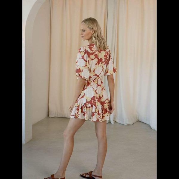 Kivari Kivari Zanthe Floral Tie Front Mini Dress