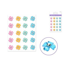 11mm Petunia Gems x20 Peel-n-Stick - Pastel
