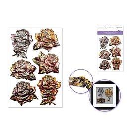 10.4cmx15.5cm 3D Embossed Vintage Elegance Vintage Roses