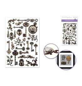 10.4cmx15.5cm 3D Embossed Vintage Elegance FVintage Keys