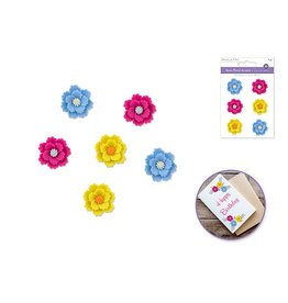 3D Resin Flower Accents Asst Colors Self-Stick D) Zinnia Bold
