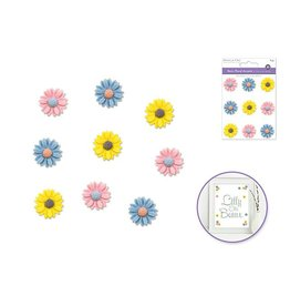 3D Resin Flower Accents Asst Colors Self-Stick A) Daisy Pastel