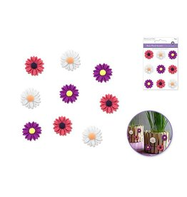 D Resin Flower Accents Asst Colors Self-Stick B) Daisy Glam