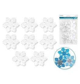 """Polyfoam Snowflake: 3""""x0.5"""" 8pc"""