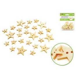 MultiCraft Craft Wood Buttons - Stars