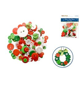 Holiday Button Embellishment: 60g Fashion-Dyed Medley