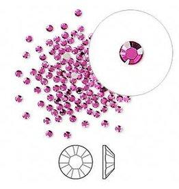 Firemountain Beads Flat back, Swarovski crystal rhinestone, fuchsia, foil back, 1.7-1.9mm Xilion rose (2058), SS5. Sold per pkg of 144 (1 gross).