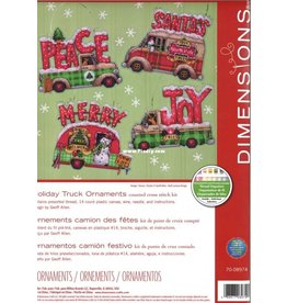 Dimensions Holiday Truck Ornaments
