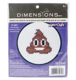 """Dimensions Cross Stitch """"Pile of Poo Emoji"""""""