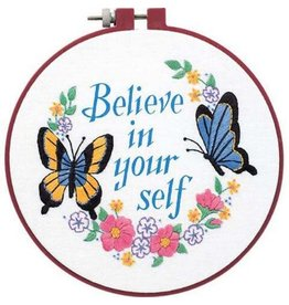 """Dimensions Embroidery Kit """"Believe in Yourself"""""""