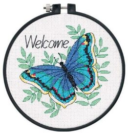 """Dimensions Cross Stitch Kit """"Welcome"""" Butterfly"""