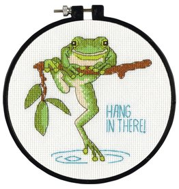 """Dimensions Cross Stitch Kit """"Hanging In"""""""