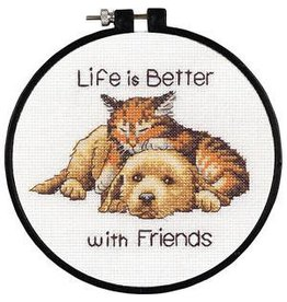 """Dimensions Cross Stitch Kit """"Better with Friends"""""""