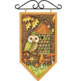 """Dimensions Counted Cross Stitch Mini Banner """"Fall"""""""