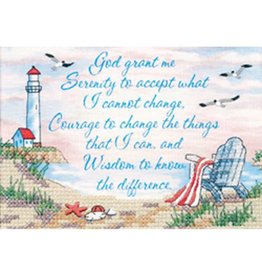 """Dimensions Counted Cross Stitch """"Serenity Prayer"""""""