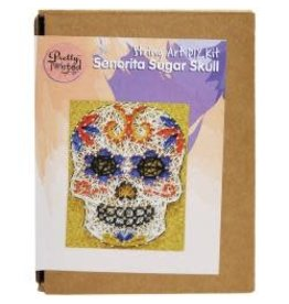 Pretty Twisted String Art DIY Kit Senorita Sugar Skull