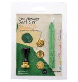 Decorative 3 Coin Sealing Set W/Wax - Irish Heritage