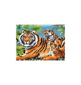 R&L Painting by Numbers - Tiger and cub