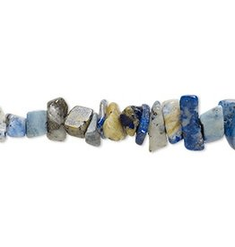 Firemountain Beads Bead, lapis lazuli (dyed), small chip, Mohs hardness 5 to 6. Sold per 15-inch strand.