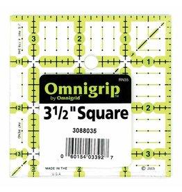 """Hakidd OMNIGRIP Ruler - 3.5"""" (8.89cm) square"""