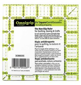 """Hakidd OMNIGRIP Ruler - 5.5"""" (13.97cm) square"""