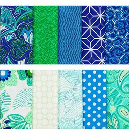 "Fabric Palette Precut Fat Quarter Bundle 18""X21"" 5/Pkg  Carinvale"