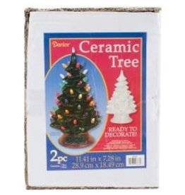Darice Ceramic Tree - White Bulbs