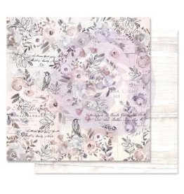 12X12 Patterned Paper, Lavender Frost - Finding The Way
