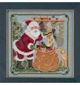 MillHill Beads A Jolly Old Elf - Cross Stitch Bead Kit