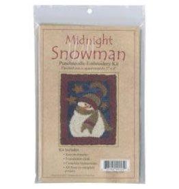 "Rachel's of Greenfield Punch Needle Kit 3""X4"" Midnight Snowman"