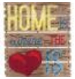 "Janlynn Pallet-Ables Plastic Canvas Kit 10.5""X11.5""X1.25"" Home Is Where The Heart Is (7 Count)"