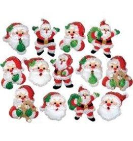 Design Works Felt Ornament Applique Kit 13/Pkg Joyful Santa
