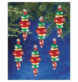"Holiday Beaded Ornament Kit Victorian Baubles 2.25""X.75"" Makes 12"