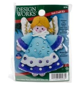 Blue Angel Ornament Felt Craft Kit